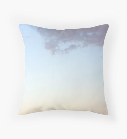 Castle Peaks sunset Throw Pillow