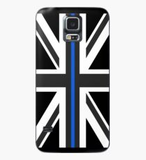 Thin Blue Line Union Jack UK Flag Case/Skin for Samsung Galaxy
