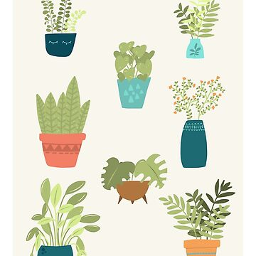 House Plant Nr. 2 - Mid-Century Modern Colours by MonJaro