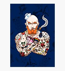 Seaman Stan the Tattooed Man Photographic Print