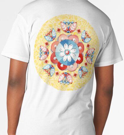 Sunshine Yellow Folkloric Long T-Shirt
