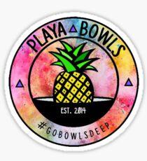 Paint splatter playa bowl Sticker