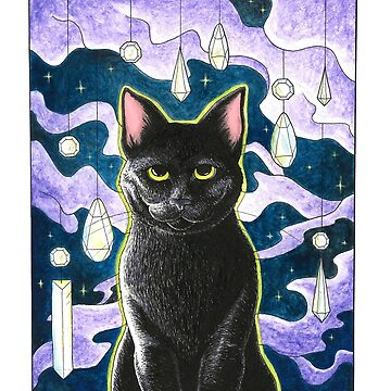 CRYSTAL CAT by juliawaters