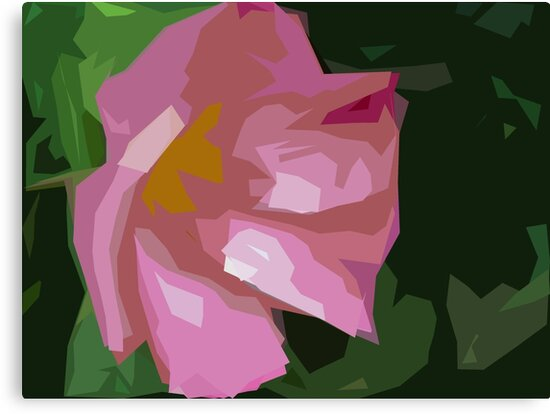 Dog Rose in art by David Tovey