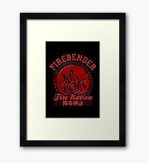 Firebender Framed Print