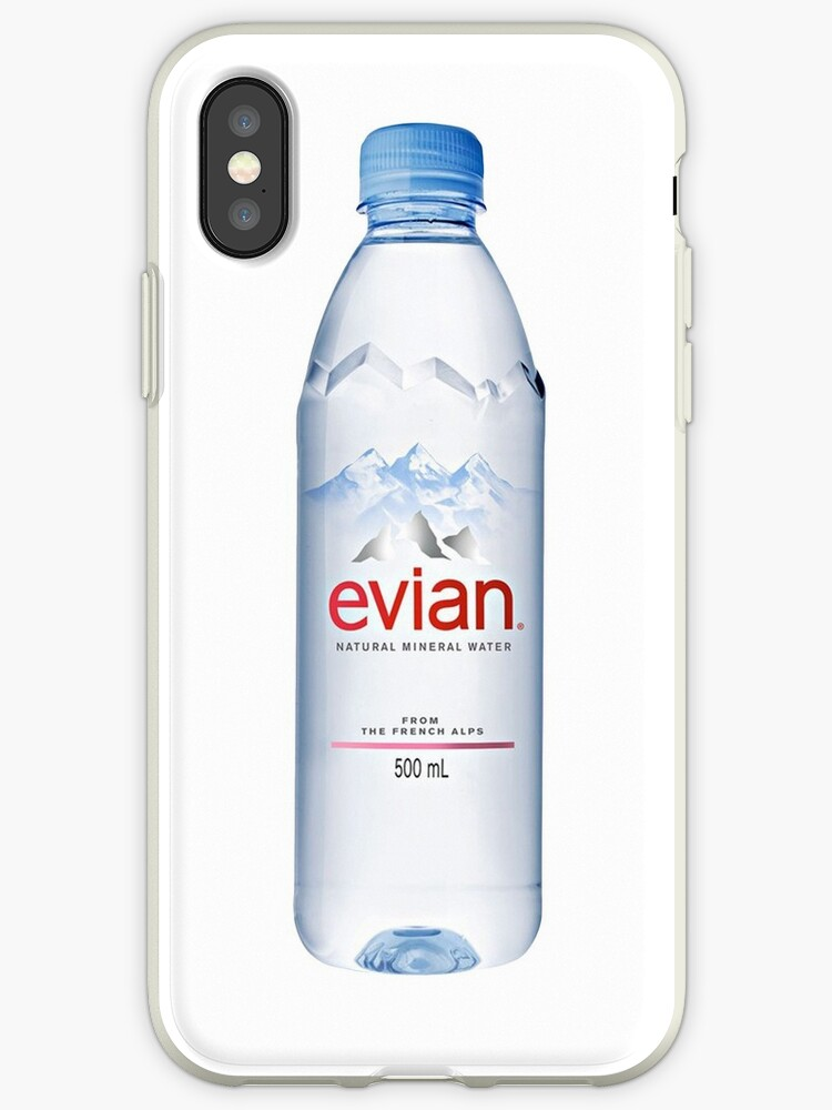 new concept 87c1c 765c7 'EVIAN WATER BOTTLE' iPhone Case by dishess