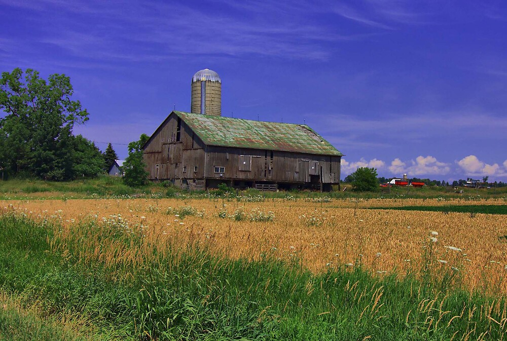 A country barn. by Sylmac