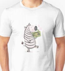 Funky Zebra Illustration T-Shirt
