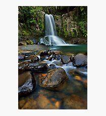 Waiau Falls Rocks Photographic Print