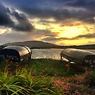 Curraghs In A Portmagee Sunset by rorycobbe