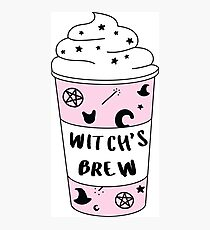 Witchs Brew Coffee ♡ Trendy/Hipster/Tumblr Meme Photographic Print