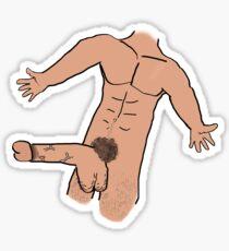 Male, Nude Sticker