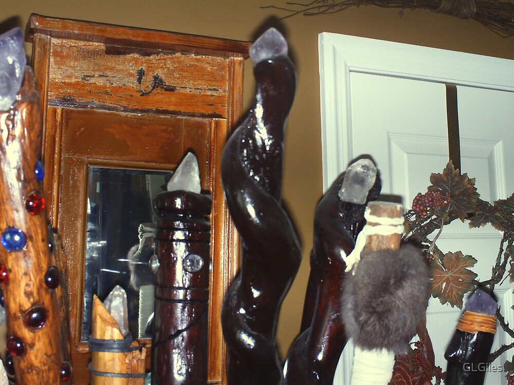 More of My Husband's (Gothrod Wolvinclaw's) Walking Sticks... by GLGiles