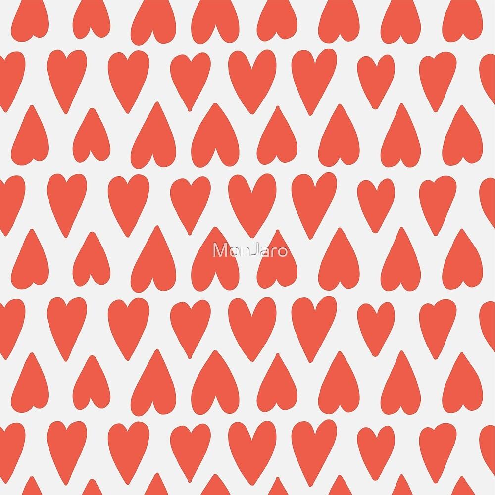«Shapes Pattern Nr. 4 - Corazones rojos» de MonJaro