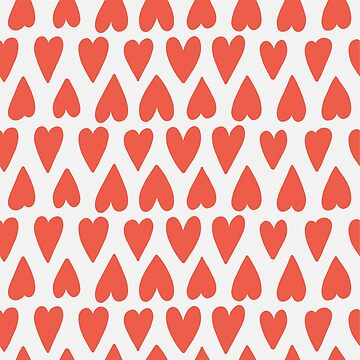 Shapes Pattern Nr. 4 - Red Hearts by MonJaro