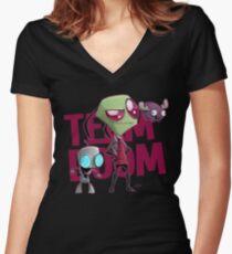 Team Doom  Women's Fitted V-Neck T-Shirt