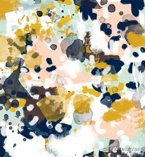Sloane - abstract painting minimal gender neutral nursery home office dorm college art decor by charlottewinter