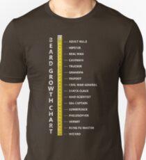 Mens Beard Length Growth Chart Ruler T-Shirt  T-Shirt