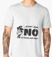 Sonic the Hedgehog - Sonic Says NO To fascism and racism! Men's Premium T-Shirt
