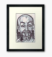 Charlie Manson Drawing Framed Print