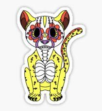 Dia De Los Muertos Jaguar Sticker