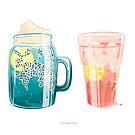 Summer drinks by JuditMallolArt
