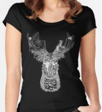 Nature Deer (White) Women's Fitted Scoop T-Shirt