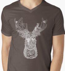 Nature Deer (White) Men's V-Neck T-Shirt