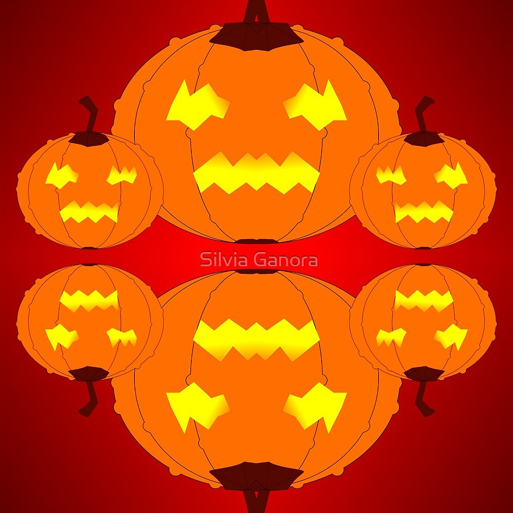 Jack o'lantern pumpkins by Silvia Ganora