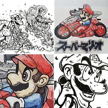 Mario X Akira by dazmos