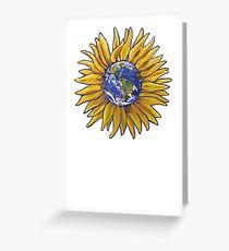 Sunflower Earth Greeting Card