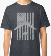 B-52 Stratofortress Distressed American Flag Design Classic T-Shirt