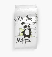 Panda Naptime Smoking Ganja Weed Marijuana Duvet Cover