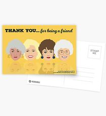 Golden Girls - Thank You for Being a Friend Greeting Card Postcards