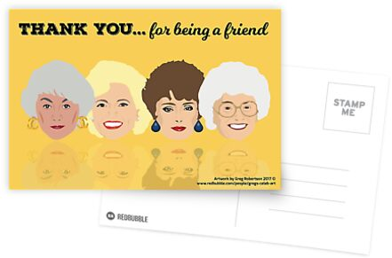 Golden Girls - Thank You for Being a Friend Greeting Card by gregs-celeb-art