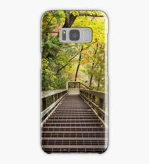 Stairs going down into a mountain forest Samsung Galaxy Case/Skin
