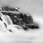 The Rhine Falls in Black and White by Angelika  Vogel