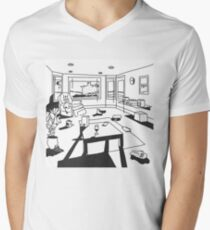 hippo campus / landmark Men's V-Neck T-Shirt