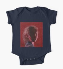 Woman in Red Portrait One Piece - Short Sleeve