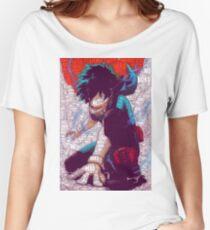 Izuku Midoriya - Boku no Hero Academia   My Hero Academia Women's Relaxed Fit T-Shirt