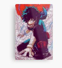 Izuku Midoriya - Boku no Hero Academia | My Hero Academia Metal Print