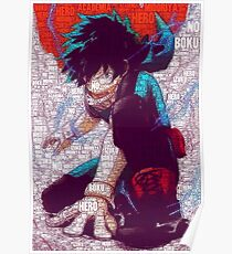 Izuku Midoriya - Boku no Hero Academia | My Hero Academia Poster