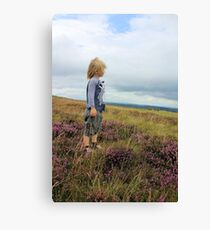 Looking out over the heather Canvas Print