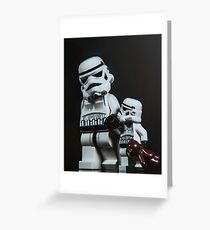 A Stormtrooper Father Son Moment Greeting Card