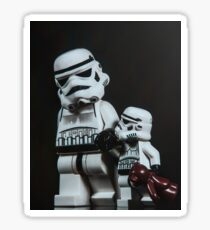 A Stormtrooper Father Son Moment Sticker
