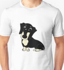 dachshund black and cream cartoon T-Shirt