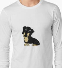 dachshund black and tan cartoon T-Shirt