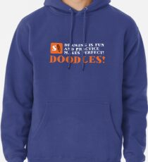 Stayf Draws- Drawing is Fun! White Letters Pullover Hoodie