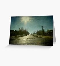 Morning Town, Maitland Street, Uralla, New South Wales Greeting Card