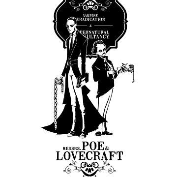 Poe & Lovecraft: Vampire Hunters by AlanBaoArt